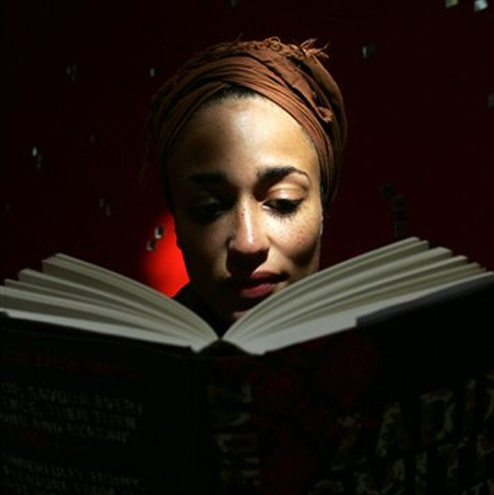 Zadie Smith reads from her book On Beauty in 2005.