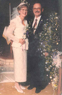The Caplans on their wedding day, May 27, 1995.