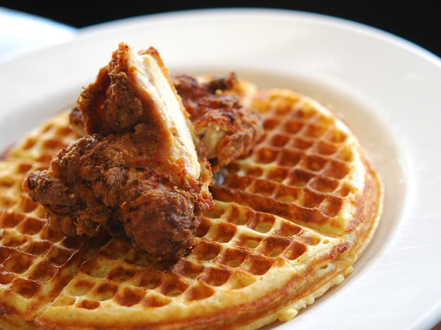southern fried chicken and eggnog waffles waffles waffles egg waffles ...