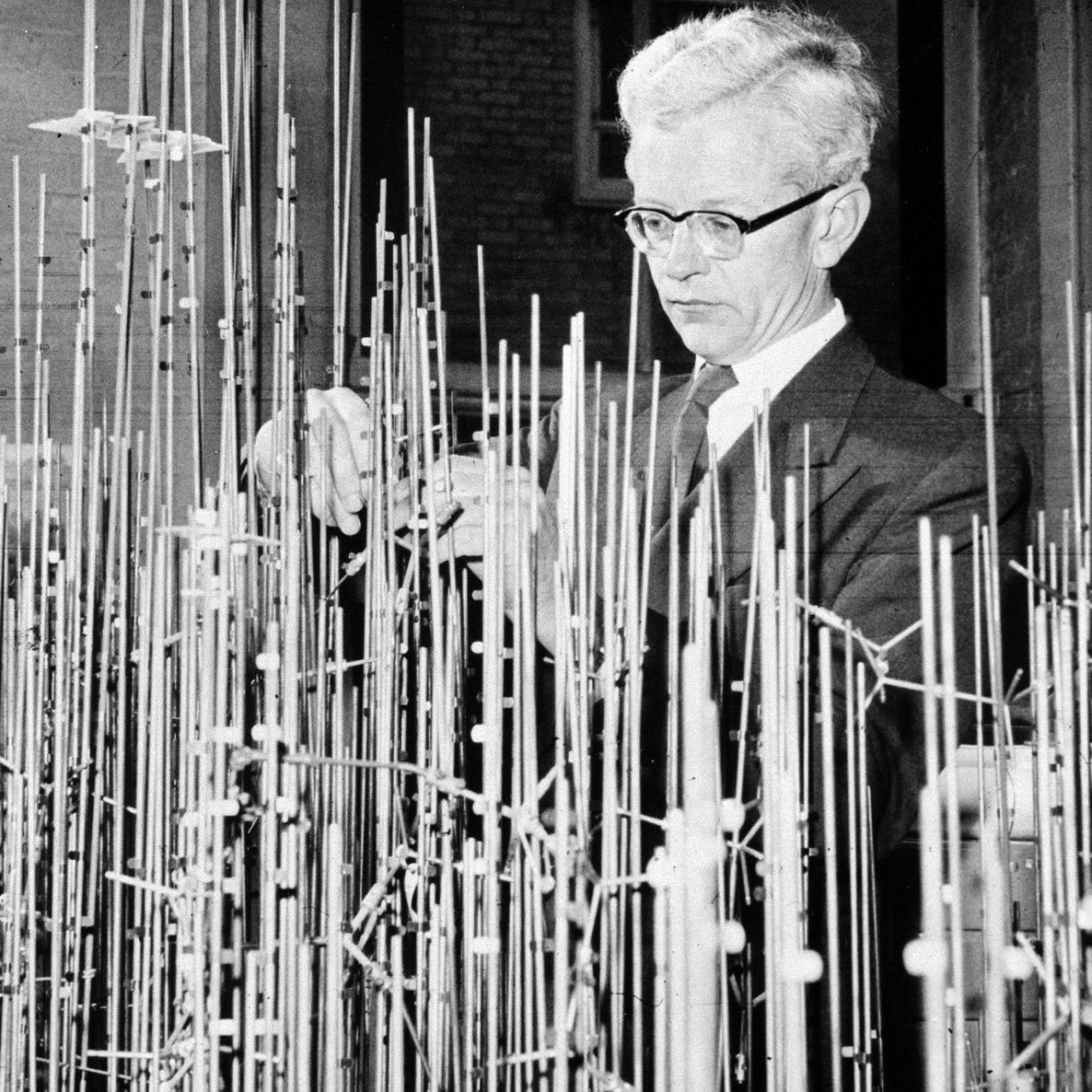 Sir John Kendall was the first to determine the 3D structure of a protein, but building an accurate model required sculptures that would take up a room.