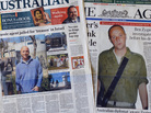 "The ""prisoner x"" story is front page news in Australia."