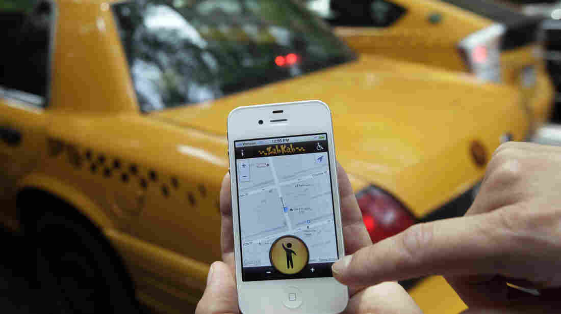 New York City rules will soon permit yellow cab drivers to accept rides through smartphone apps.