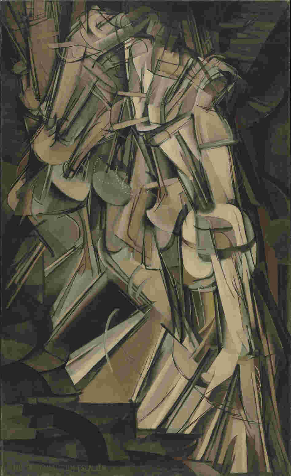 "Marcel Duchamp's Cubist-inspired Nude Descending a Staircase was famously described by one critic as ""an explosion in a shingle factory."""