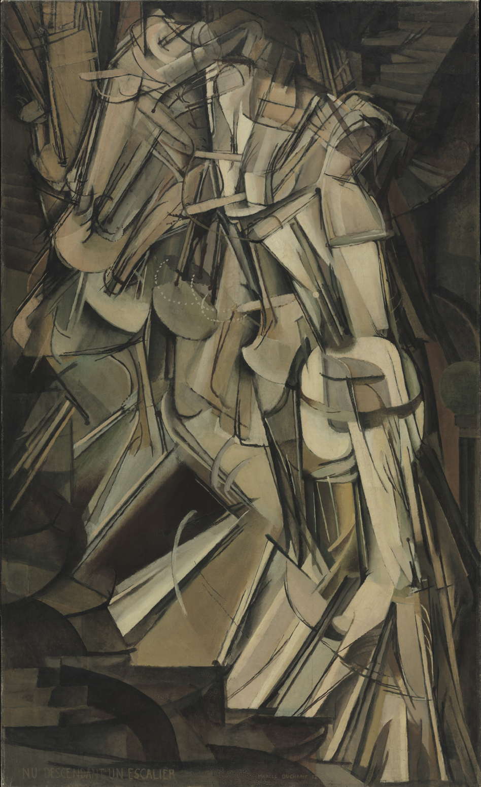 "Marcel Duchamp's Cubist-inspired <em>Nude Descending a Staircase</em> was famously described by one critic as ""an explosion in a shingle factory."" ( Philadelphia Museum of Art/Copyright succession Marcel Duchamp / ADAGP, Paris / Artists Rights Society (ARS), New York 2013)"