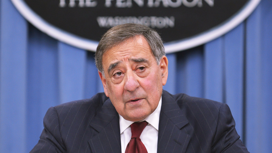 Outgoing Defense Secretary Leon Panetta announces a new medal that recognizes combat contributions made far from the battlefield. (AFP/Getty Images)
