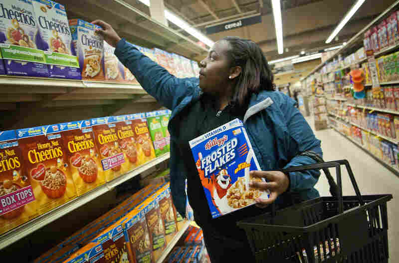 Erika Hersey is more careful now about the types of groceries she buys, opting for  healthier selections.