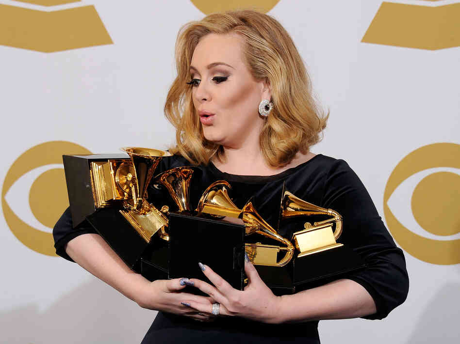 In 2012, Adele won each of the six Grammys for which she was nominated, including the awards for Album, Song and Record of the Year.