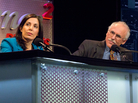 "Nita Farahany and Lee Silver argue against the motion ""Prohibit Genetically Engineered Babies"" during an Intelligence Squared U.S. debate."