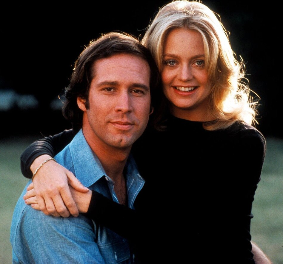 Goldie Hawn and Chevy Chase in the 1978 movie <em>Foul Play</em>.