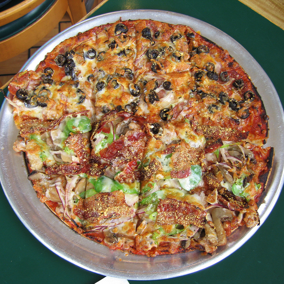 An Imo's pizza from St. Louis, made with Provel, the regional specialty cheese.