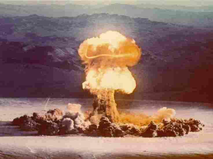 Nuclear bomb tests like this one, conducted at the Nevada Test Site in 1957, are helping scientists u