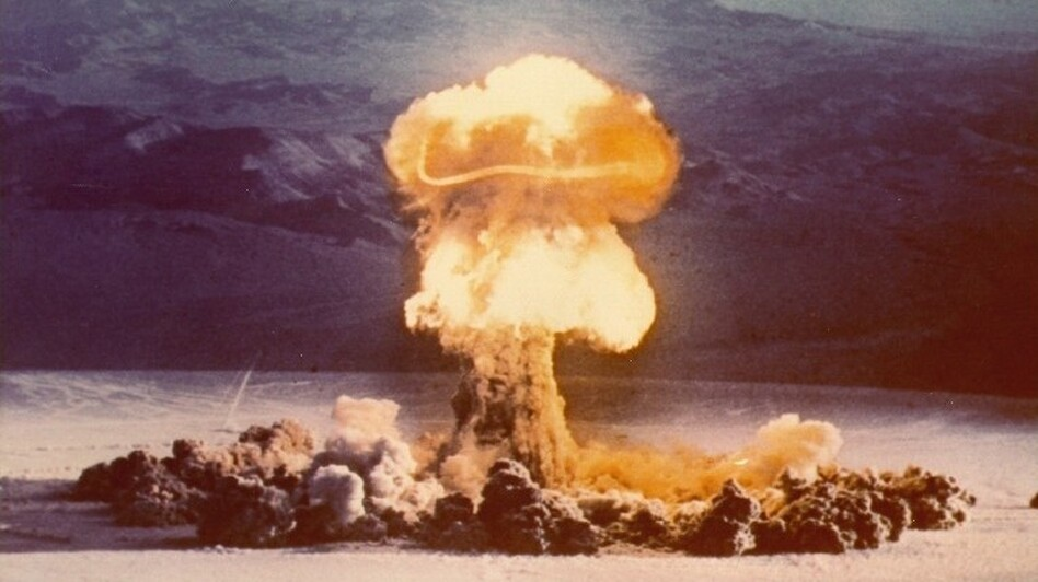 Nuclear bomb tests like this one, conducted at the Nevada Test Site in 1957, are helping scientists understand how the human body works. (Photo courtesy of National Nuclear Security Administration / Nevada Site Office)