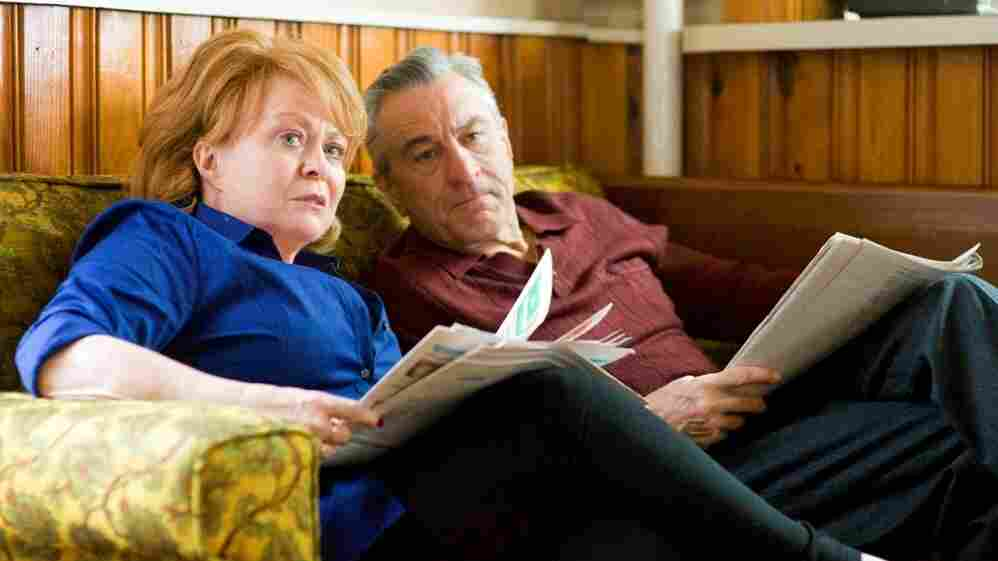 Jackie Weaver, pictured here with costar Robert De Niro, plays the rock-solid matriarch of a troubled clan in Silver Linings Playbook.