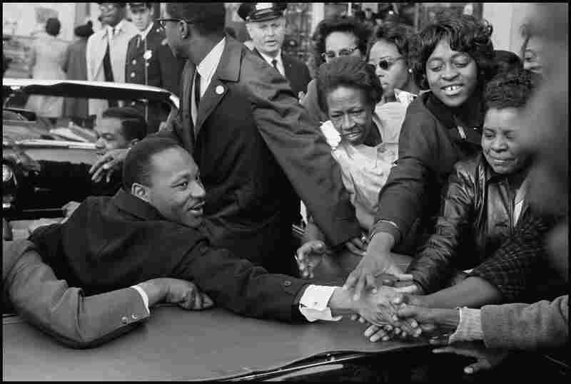 The Rev. Martin Luther King Jr. is greeted on returning to the U.S. after receiving the Nobel Peace Prize in 1964.