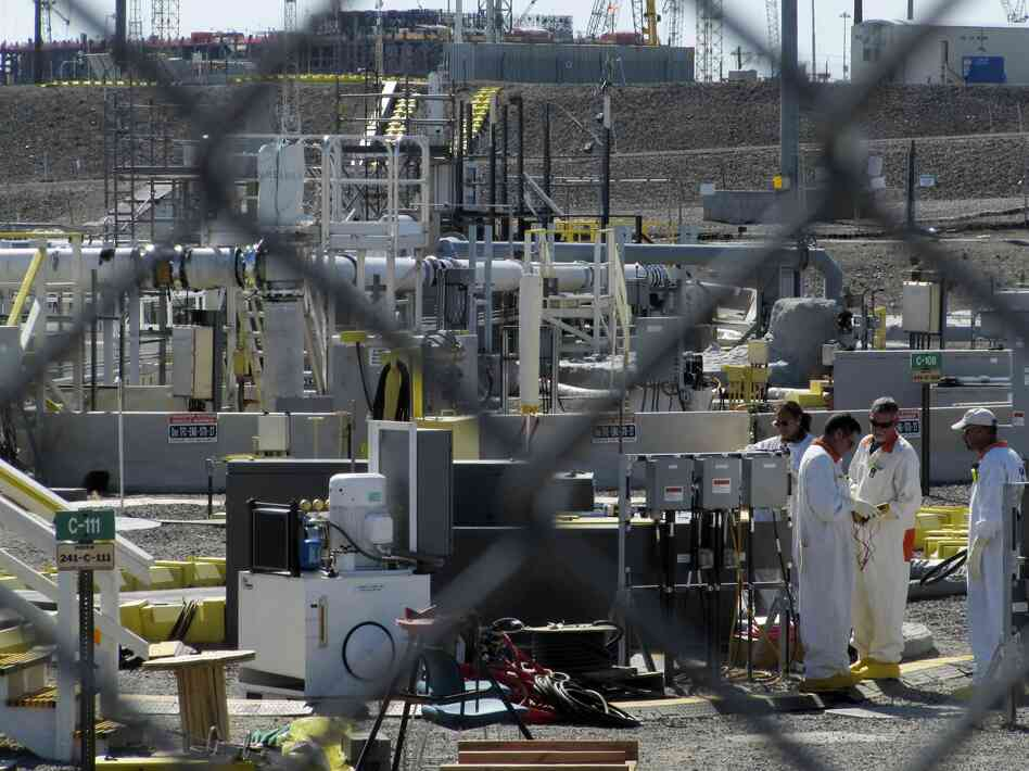 Workers at the Hanford Nuclear Reservation near Richland, Wash., in 2010.