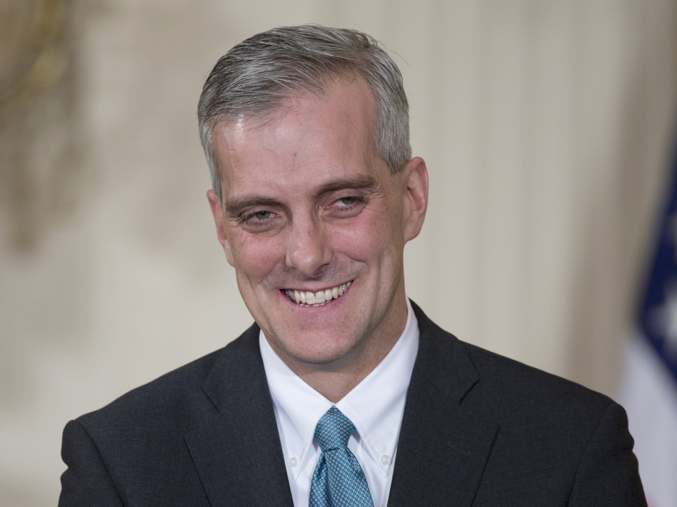 White House Chief of Staff Denis McDonough at the White House on Jan. 25.