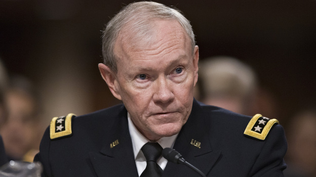 Gen. Martin Dempsey, chairman of the Joint Chiefs of Staff, testifies before a Senate panel in Washington last Tuesday on the looming cuts to the defense budget.