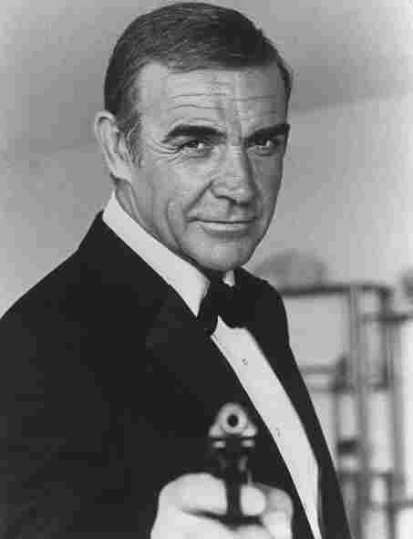 "Sean Connery during the making of the James Bond film ""Never Say Never Again."""