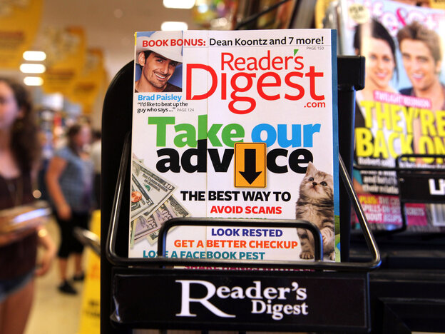Reader's Digest's parent company has filed for bankruptcy protection.
