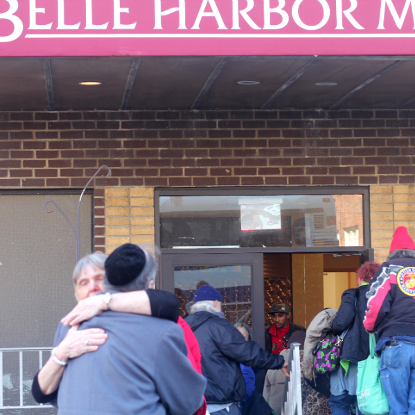Residents of Belle Harbor Manor return home for the first time since Sandy.