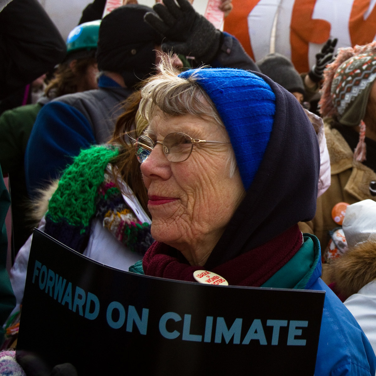 "Protestors chant ""Shift the Power"" during the Forward on Climate Rally"