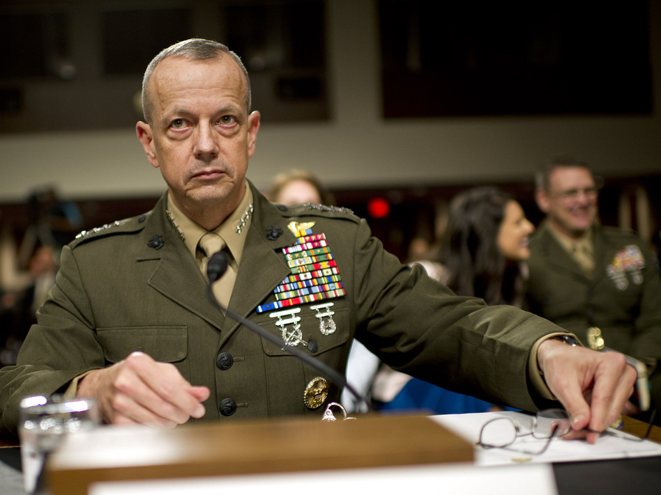 Marine Corps Gen. John Allen in March 2012.