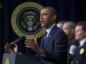 On Tuesday, President Obama urged congressional action to prevent automatic spe