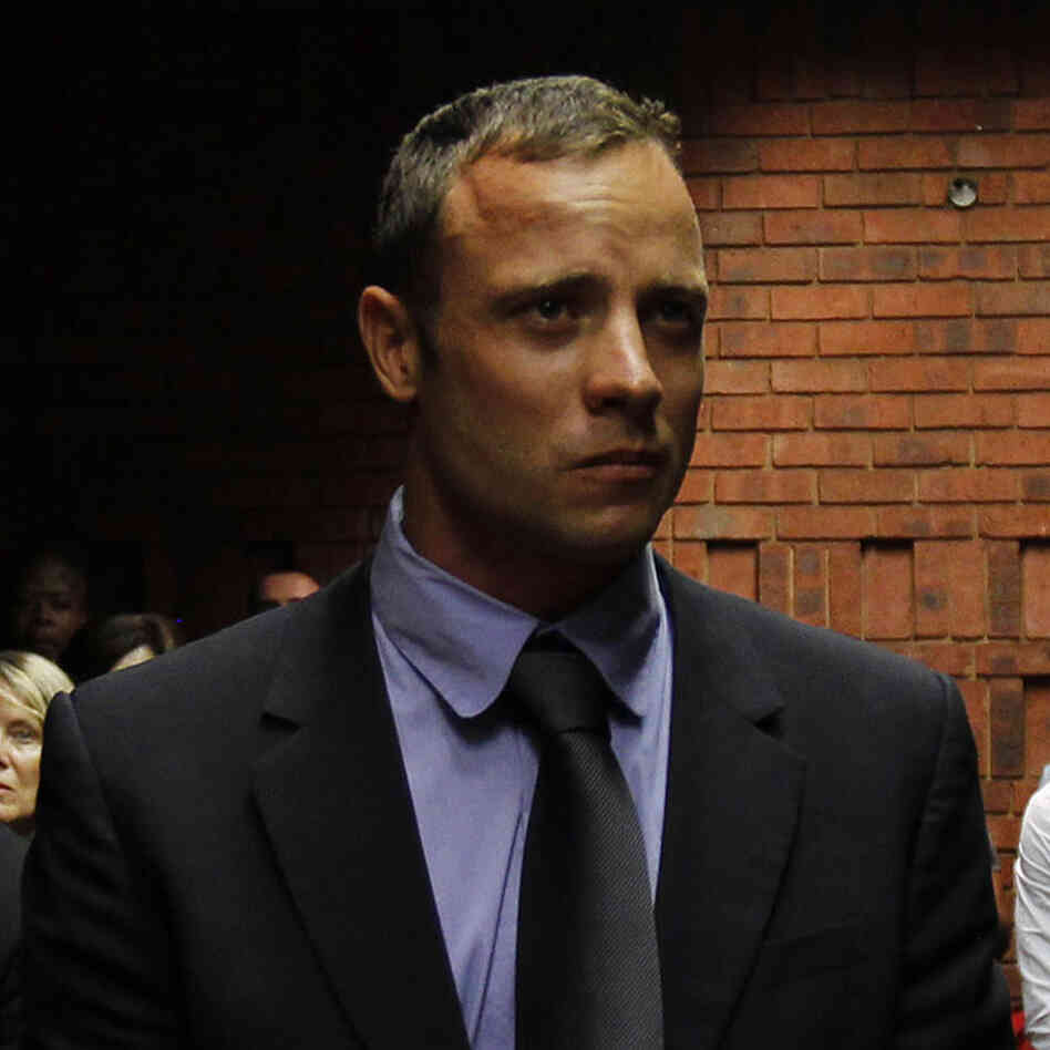 Oscar Pistorius in a Pretoria court Tuesday.