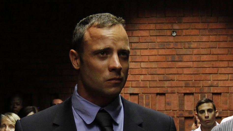 Oscar Pistorius in a Pretoria court Tuesday. (Reuters /Landov)