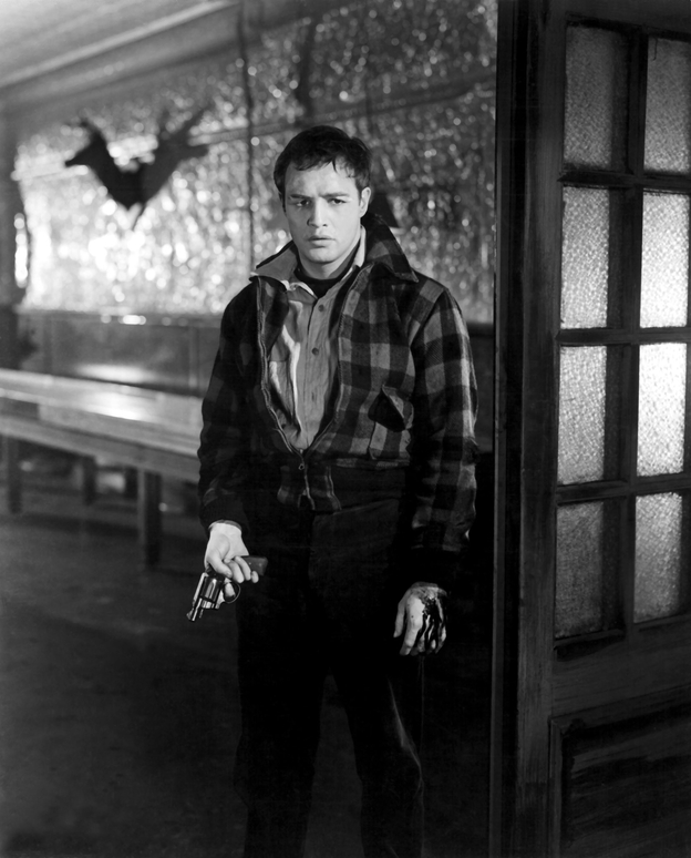 As dockworker Terry Malloy in Elia Kazan's <em>On the Waterfront</em>, a young Marlon Brando firmly established himself as a leading Hollywood icon.
