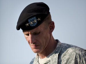 Gen. Stanley McChrystal during a retirement