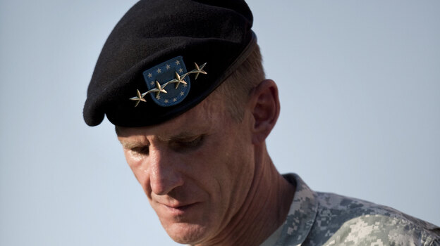 Gen. Stanley McChrystal during a retirement ceremony in 2010. His comments in a Rolling Stone interview helped lead to his resignation. (Getty Images)