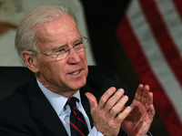 Vice President Biden earlier this month during a roundtable discussion on gun control at Girard College in Philadelphia.