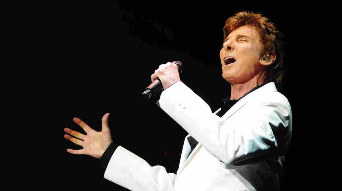 Barry Manilow performing at the opening night of his show Manilow On Broadway in January.