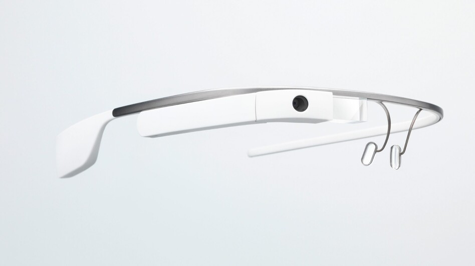 Google's Glass lets users send messages, video-chat, record video and take photos. (Google)