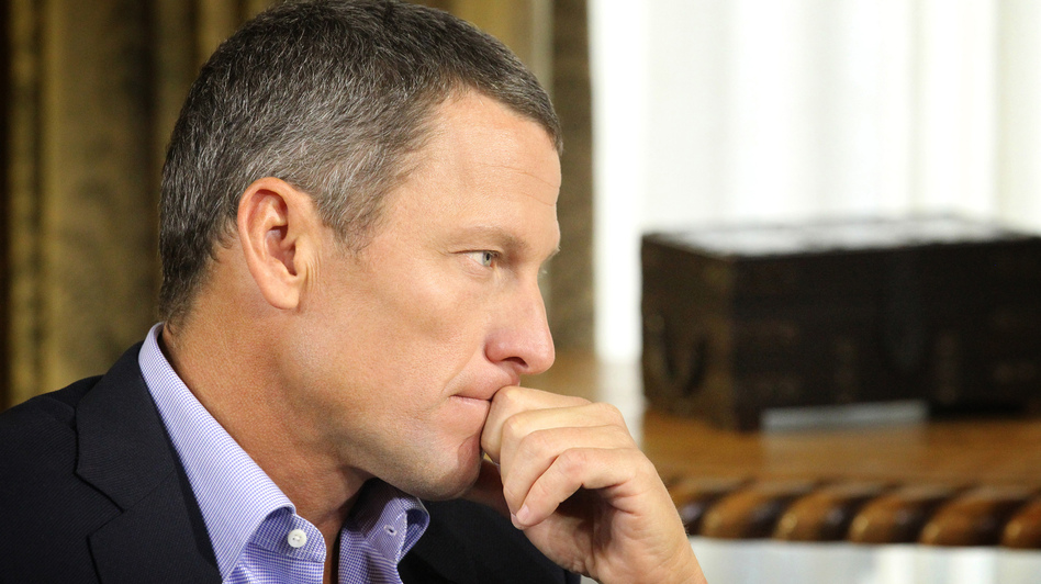 Lance Armstrong, during the interview with Oprah Winfrey that was recorded Monday and began airing Thursday night. (Getty Images)