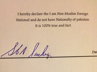 Signing this pledge allows a foreigner to drink alcohol in Pakistan.