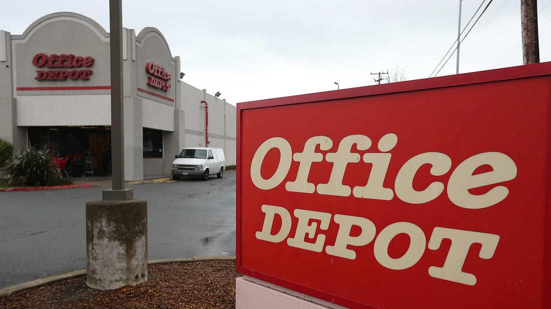 An Office Depot store in San Rafael, Calif.