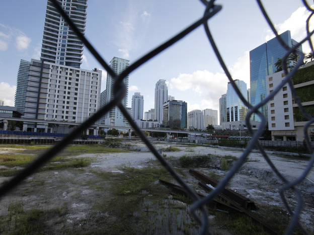 Development stopped and housing went unsold when the housing bubble in Miami popped.