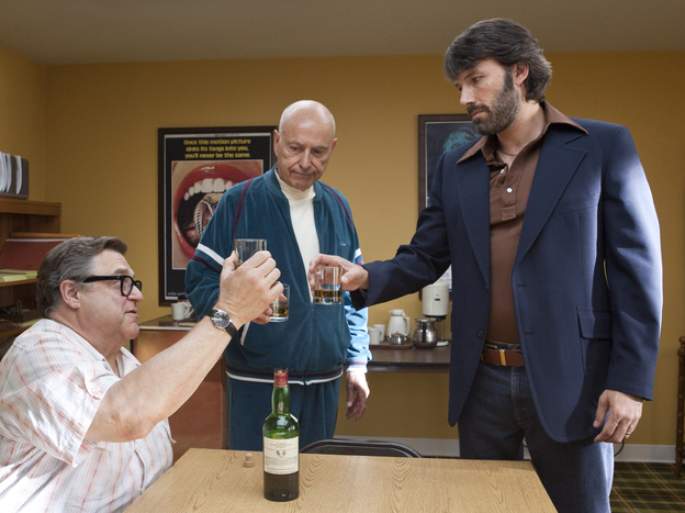 John Goodman, Alan Arkin and actor-director Ben Affleck in <em>Argo</em>.