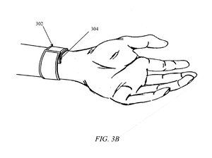 A drawing from Apple's patent application could give clues to the rumored iWatch device.