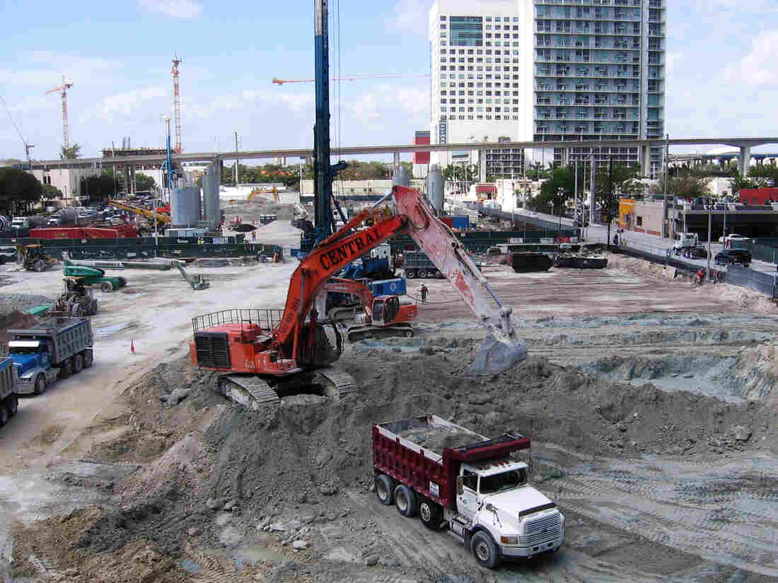 Brickell CityCentre is a new project that includes retail, offices and two condo towers. In all, some 19 condo towers are going up in downtown Miami, just seven years after the housing market crash.