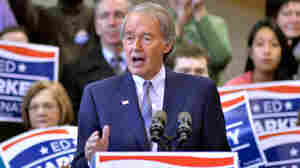 Rep. Ed Markey, D-Mass., speaks to supporters in Malden, Mass, on Feb. 2.