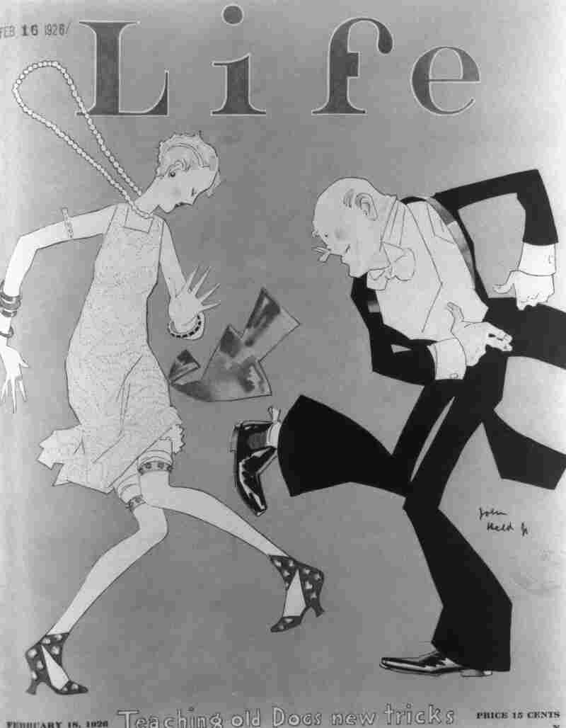 """Teaching Old Dogs New Tricks"": A February 1926 cover of Life magazine."