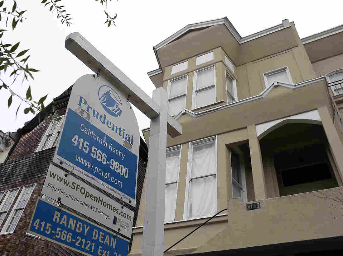 """A """"for sale"""" sign in San Francisco last summer."""