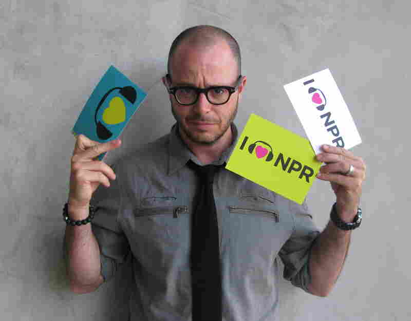 Screenwriter Damon Lindelof, known for his work on TV hit Lost, recently took on the sci-fi thriller Prometheus, nominated for its visual effects. We're thrilled Lindelof took a turn in front of the camera to show love for NPR. (http://n.pr/KC6u3n)