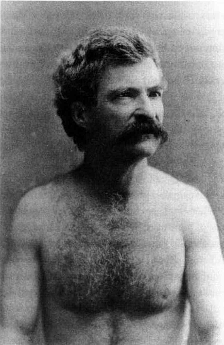 A photo of Mark Twain from the 1880s.