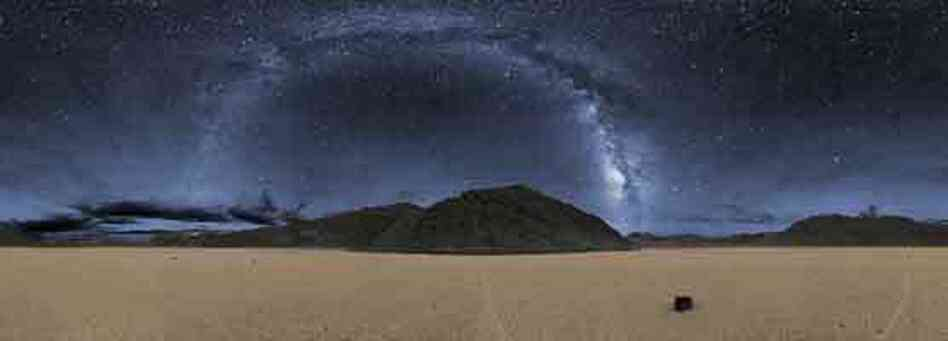 The Racetrack area in Death Valley National Park, which boasts one of the darkest night skies in the U.S