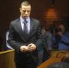 Oscar Pistorius as he entered a court in Pretoria on Thursday.