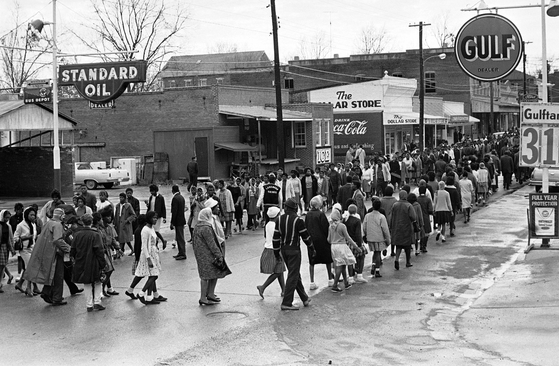 When John Queen died in August 1965 in front of the Ice House [the building between the Standard Oil station and The Dollar Store), rules of racial inferiority were so entrenched in Fayette, Miss., that black residents felt they couldn't complain. But just four months later things changed and black residents marched on Dec. 24 as part of their boycott against white-owned businesses.